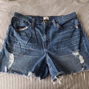 JCREW Distressed Denim Cutoff Shorts